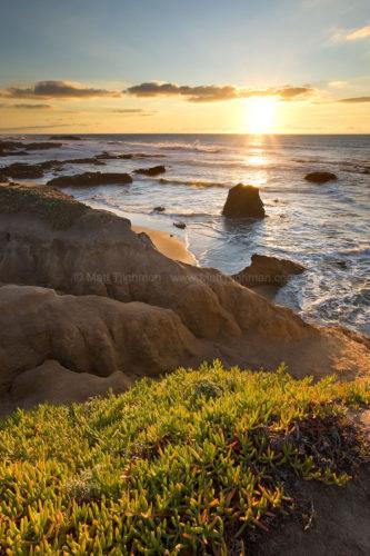 Pescadero Beach at Sunset, off Pacific Coast Highway