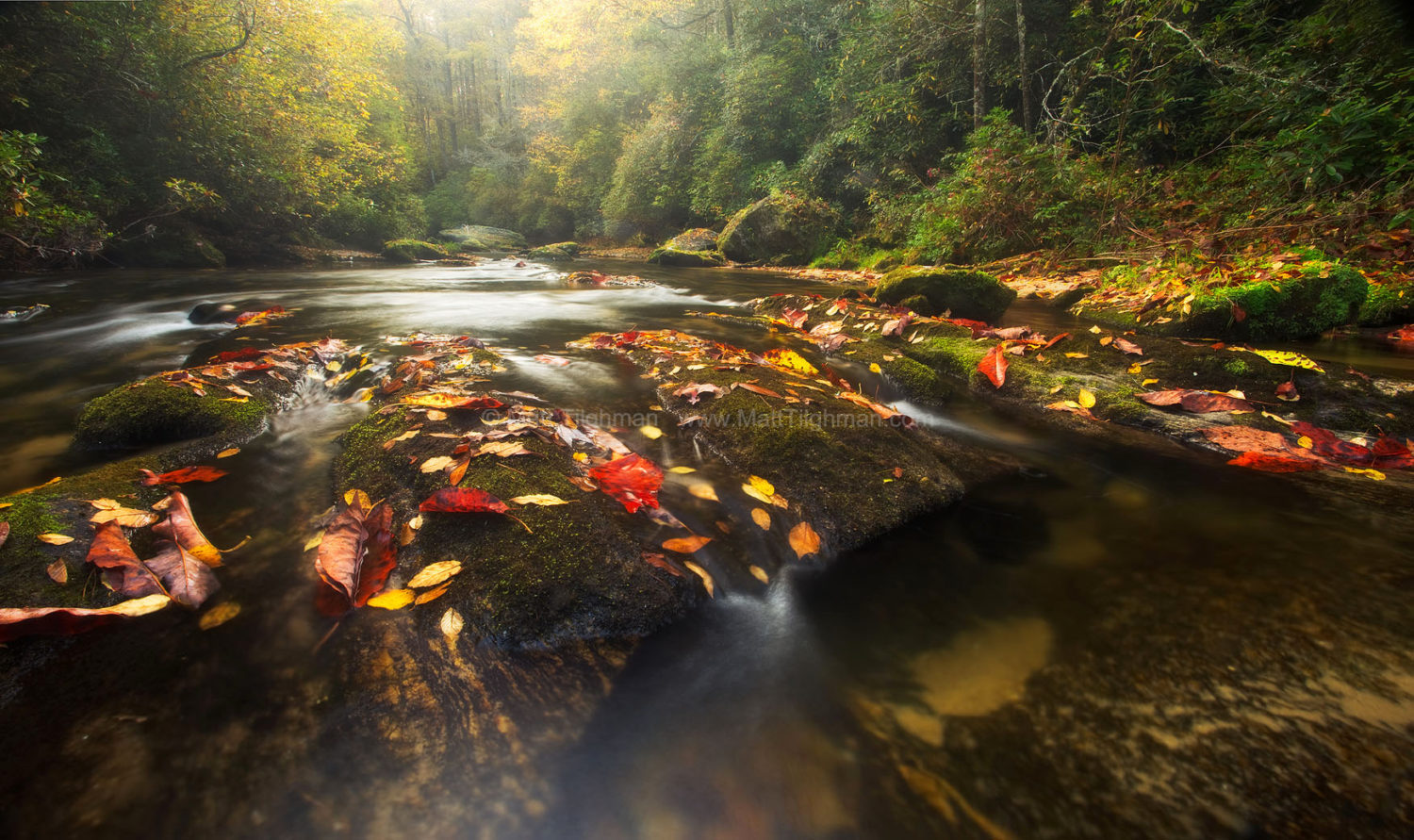 Fine art stock landscape photograph from the forests of Western North Carolina. The Chattooga River in Fall is among the most beautiful scenes nature has to offer.
