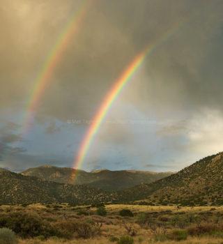 Desert Double Rainbow - Chihuahuan Desert, New Mexico