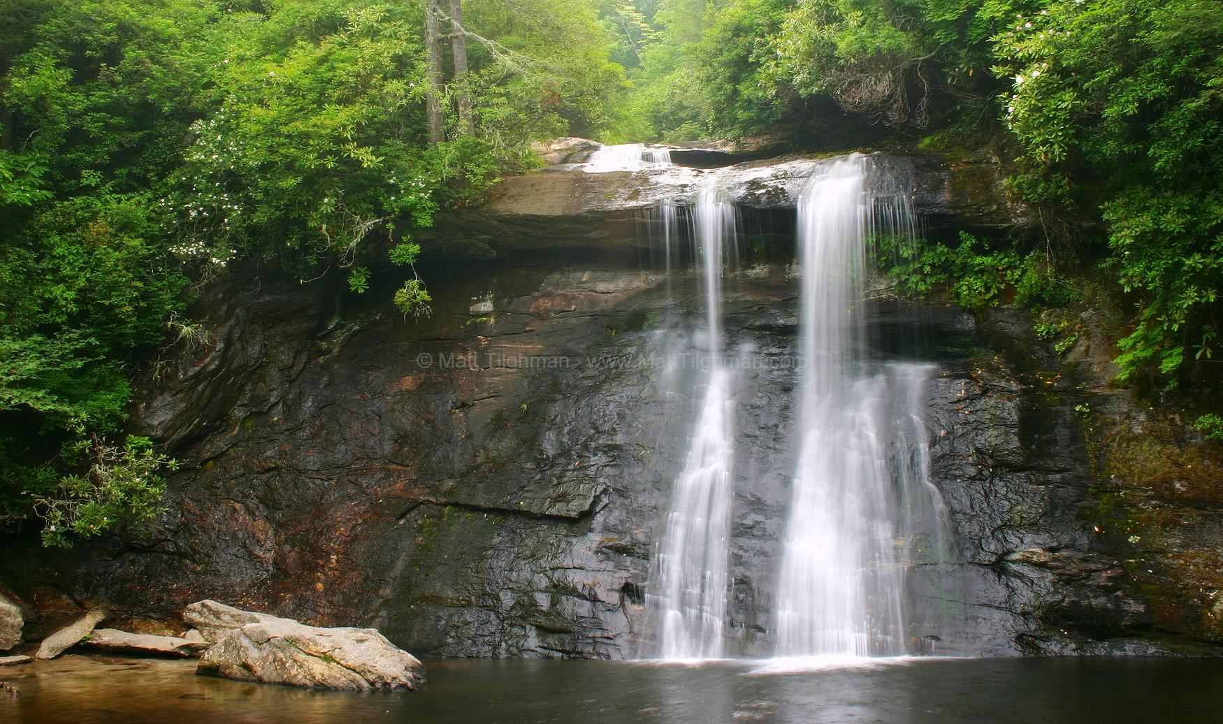 mountains waterfalls forest usa - photo #11