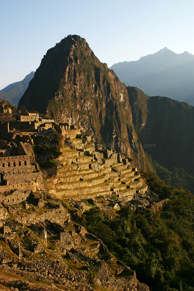 Fine art stock photograph of Machu Picchu at dawn. The world-famous Incan ruins in Peru's Andes Mountains are every bit as beautiful as they are touted to be.