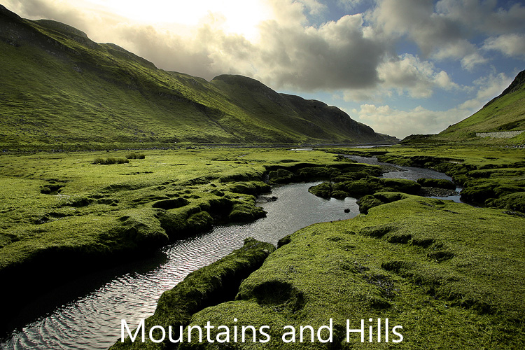 Link to image gallery of Mountains and Hills images