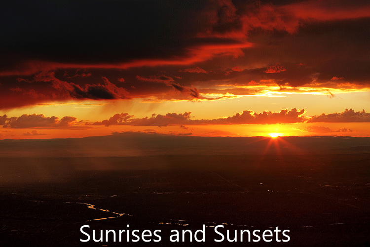 Link to image gallery of sunrises and sunsets
