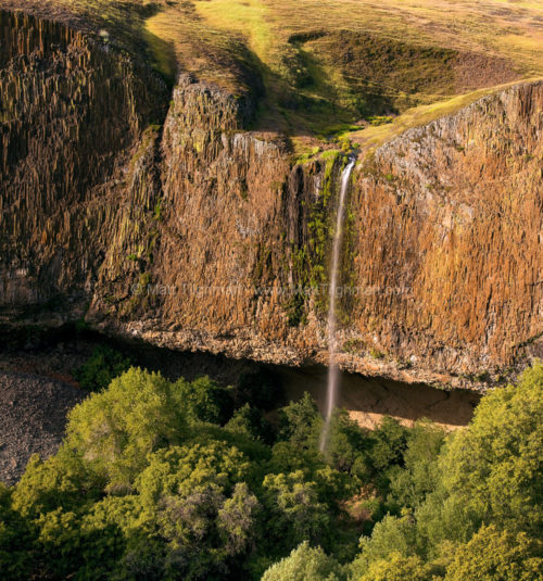 Fine art stock photograph of Phantom Falls, a beautiful seasonal waterfall in North Table Mountain Ecological Preserve, near Chico, California.